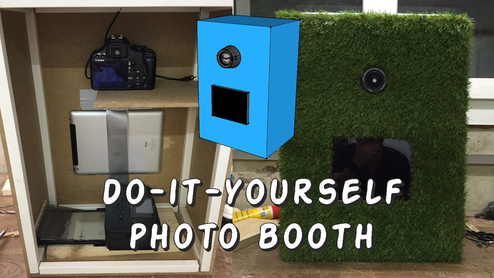 do it yourself photo booth finishing. Black Bedroom Furniture Sets. Home Design Ideas